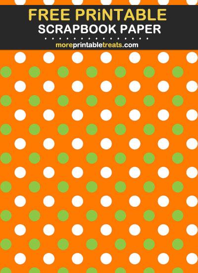 Free Printable St. Patrick's Day Polka Dot Scrapbook Paper
