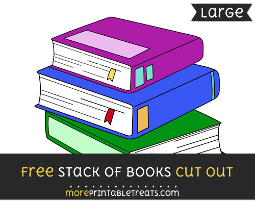 Free Stack Of Books Cut Out - Large size printable