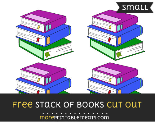 Free Stack Of Books Cut Out - Small Size Printable