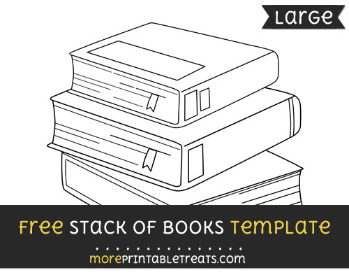 Free Stack Of Books Template - Large