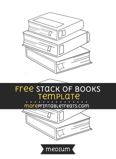 Free Stack Of Books Template - Medium