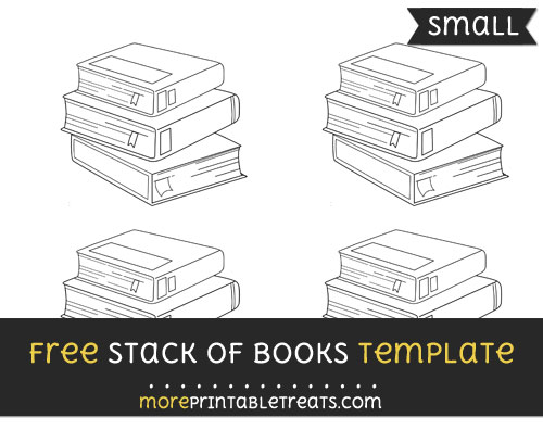 Free Stack Of Books Template - Small