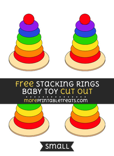 Free Stacking Rings Baby Toy Cut Out - Small Size Printable