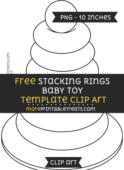 Free Stacking Rings Baby Toy Template - Clipart