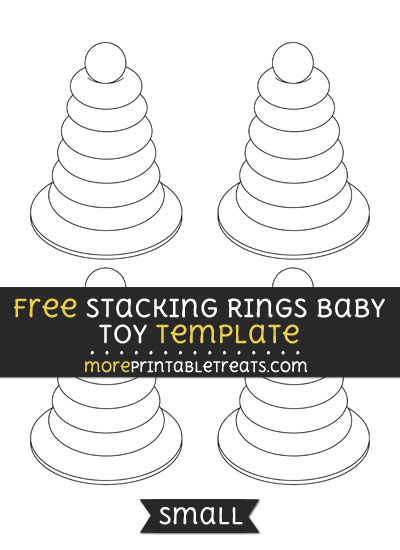 Free Stacking Rings Baby Toy Template - Small