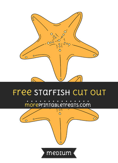 Free Starfish Cut Out - Medium Size Printable