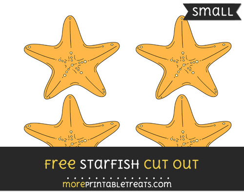 Free Starfish Cut Out - Small Size Printable