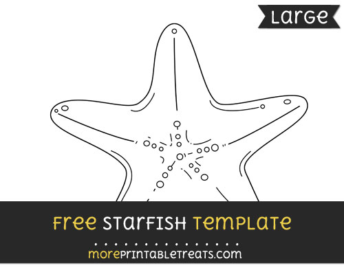 Free Starfish Template - Large