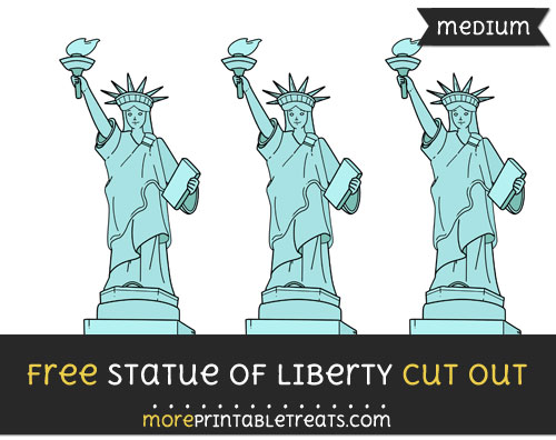 Free Statue Of Liberty Cut Out - Medium Size Printable