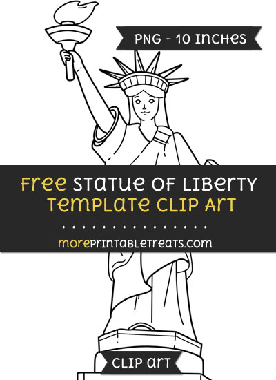 Free Statue Of Liberty Template - Clipart