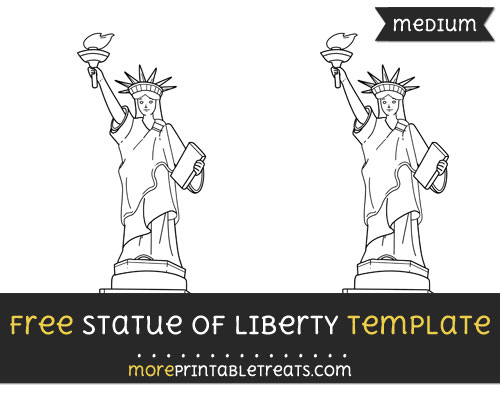 Free Statue Of Liberty Template - Medium
