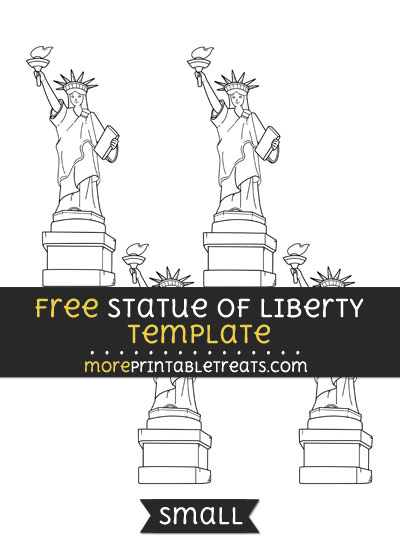 Free Statue Of Liberty Template - Small