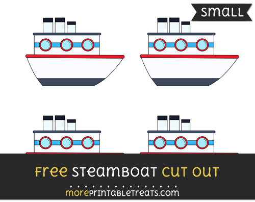 Free Steamboat Cut Out - Small Size Printable