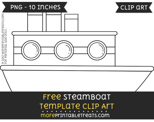 Free Steamboat Template - Clipart