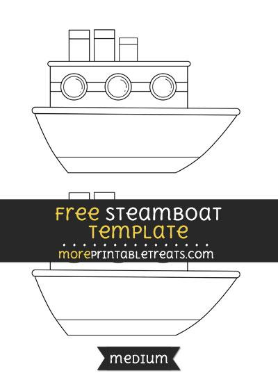 Free Steamboat Template - Medium