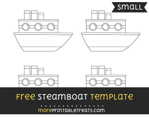 Free Steamboat Template - Small