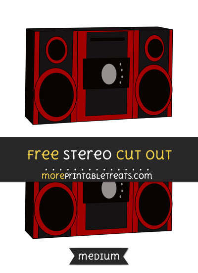 Free Stereo Cut Out - Medium Size Printable