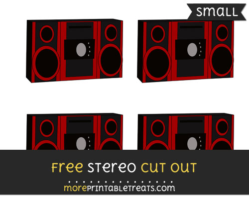 Free Stereo Cut Out - Small Size Printable