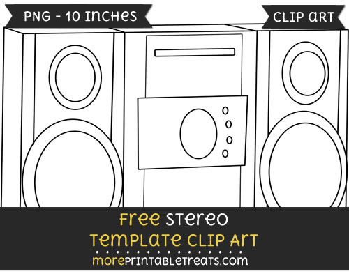 Free Stereo Template - Clipart
