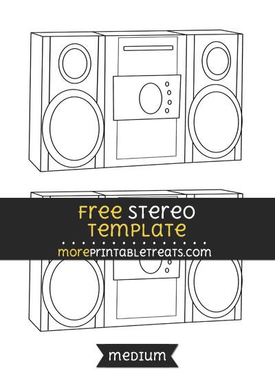 Free Stereo Template - Medium