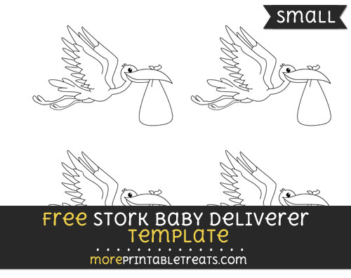 Free Stork Baby Deliverer Template - Small