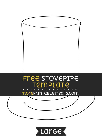 Free Stovepipe Hat Template - Large