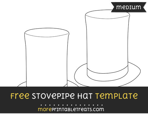 Free Stovepipe Hat Template - Medium