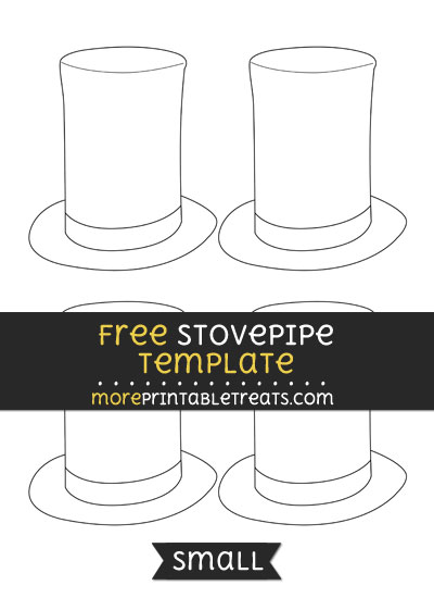 Free Stovepipe Hat Template - Small