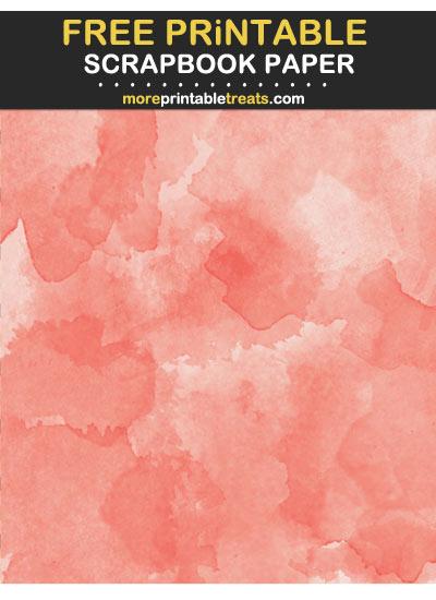 Free Printable Strawberry Pink Watercolor Scrapbook Paper