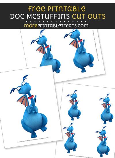 Free Stuffy McStuffins Dragon Cut Outs - Printable - Doc McStuffins