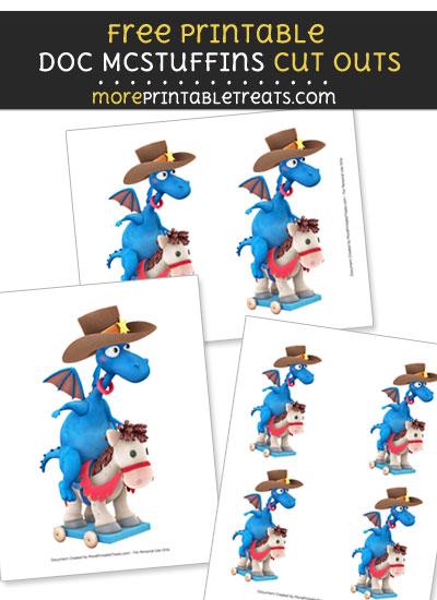 Free Stuffy McStuffins Riding Horse Cut Outs - Printable - Doc McStuffins