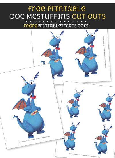 Free Stuffy McStuffins with Bandaid Cut Outs - Printable - Doc McStuffins