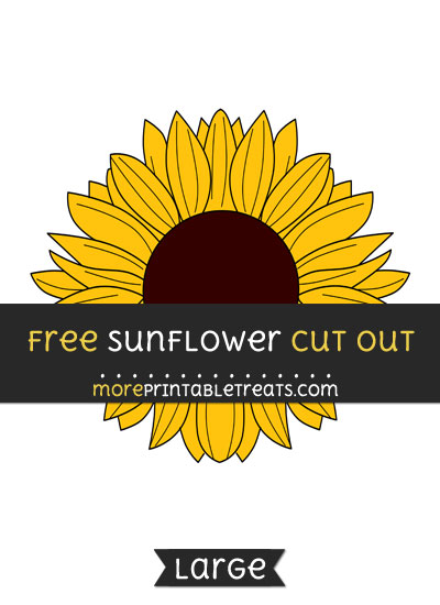 Free Sunflower Cut Out - Large size printable