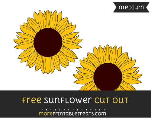 Free Sunflower Cut Out - Medium Size Printable