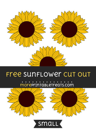 Free Sunflower Cut Out - Small Size Printable