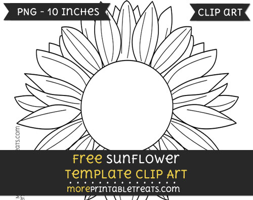 Free Sunflower Template - Clipart