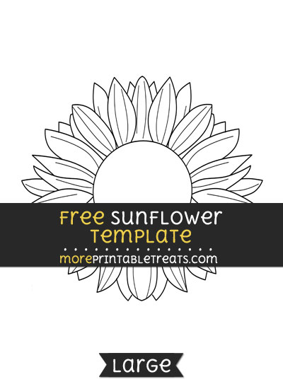 Free Sunflower Template - Large