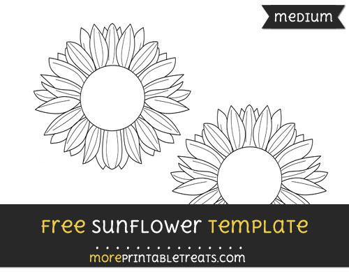 Free Sunflower Template - Medium
