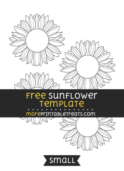 Free Sunflower Template - Small