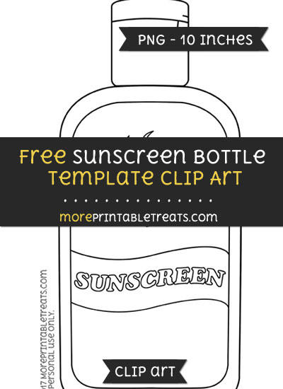 Free Sunscreen Bottle Template - Clipart