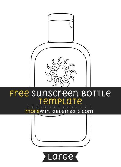 Free Sunscreen Bottle Template - Large