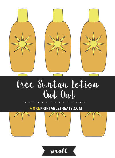 Free Suntan Lotion Cut Out - Small