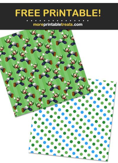 Free Printable Super Mario Bros Pattern Paper