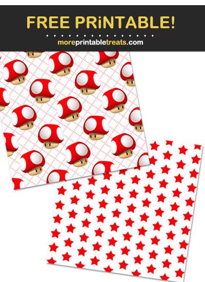 Free Printable Super Mario Bros Theme Paper