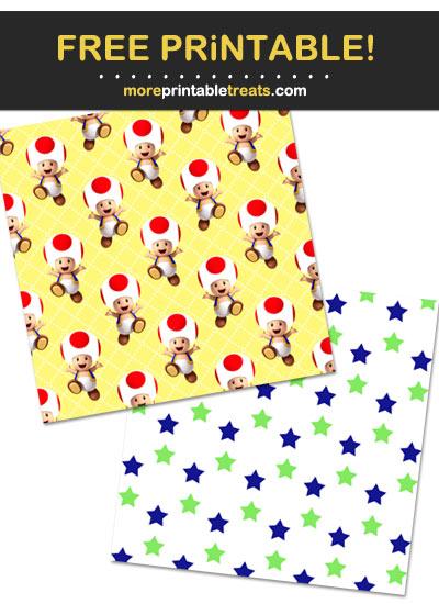 Free Printable Super Marios Bros Wrapping Paper