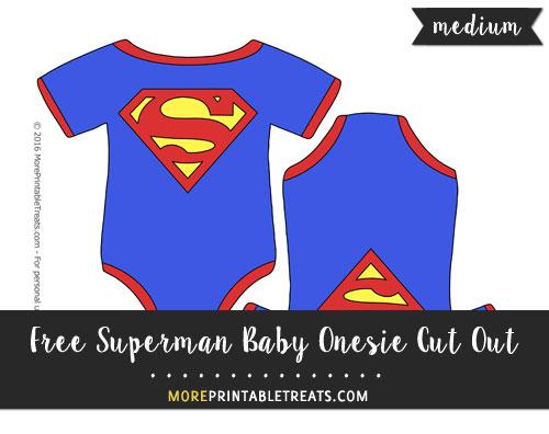 Free Superman Baby Onesie Cut Out - Medium