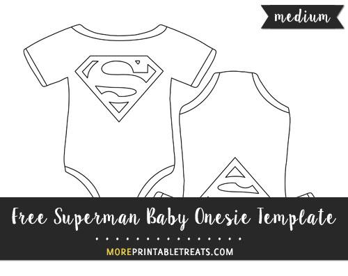 Free Superman Baby Onesie Template - Medium Size