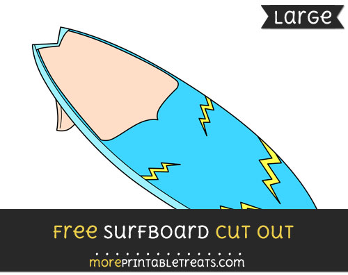 Free Surfboard Cut Out - Large size printable