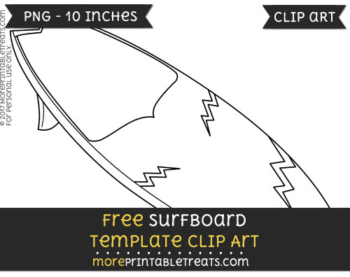Free Surfboard Template - Clipart