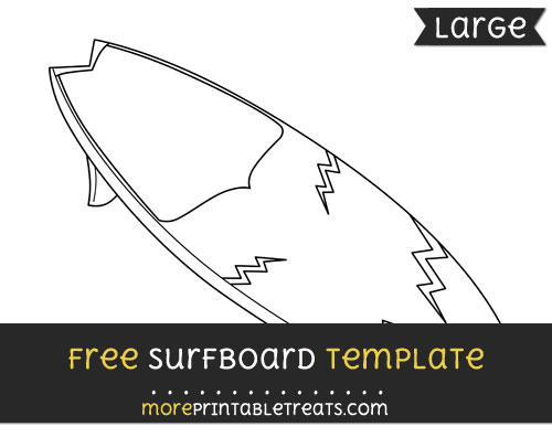 Free Surfboard Template - Large